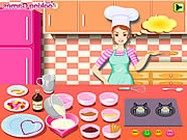 Barbie cooking Valentine blancmange online barbie j�t�k