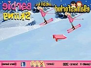 Barbie skiing game barbie j�t�kok